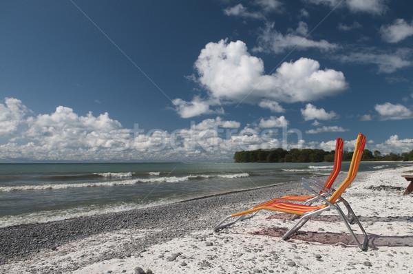 湖 オンタリオ 2 チェア ビーチ 白 ストックフォト © Gordo25