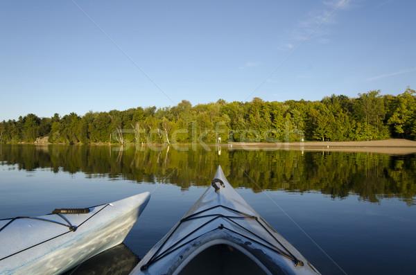 Two Kayaks on Charleston Lake Stock photo © Gordo25
