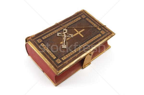 Cross on Religious Book Stock photo © Gordo25
