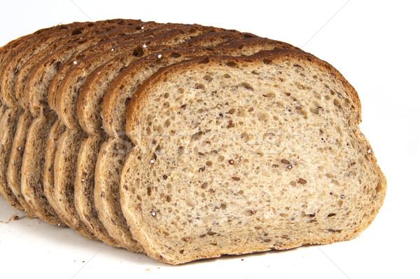 Rebanada centeno pan dorado grano Foto stock © Gordo25