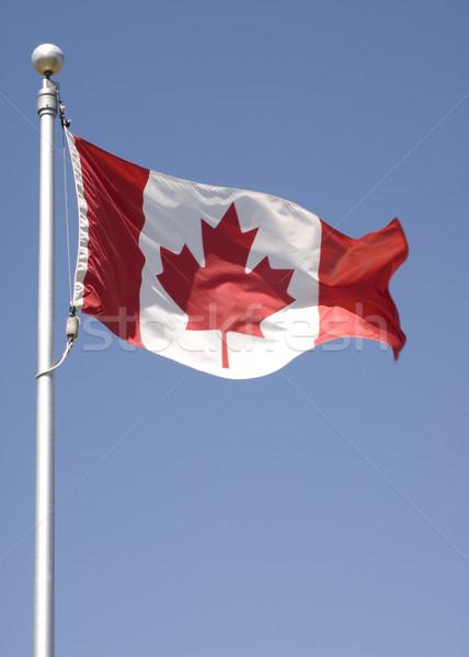 Kanada zászló függőleges fotó kanadai zászló repülés Stock fotó © Gordo25