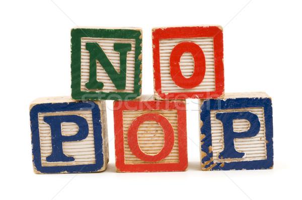 Geen pop spelling gezondheid vet Stockfoto © Gordo25