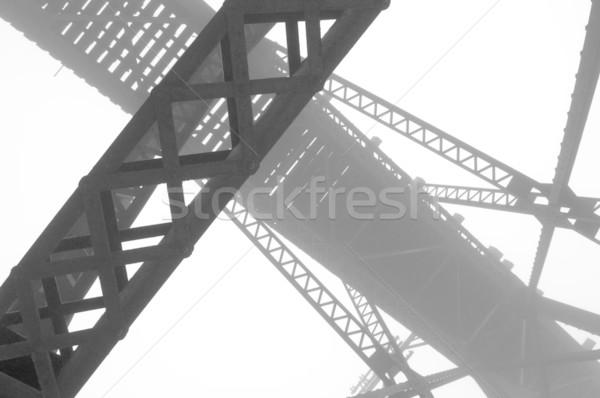 Abstract brug hoog contrast afbeelding staal Stockfoto © Gordo25