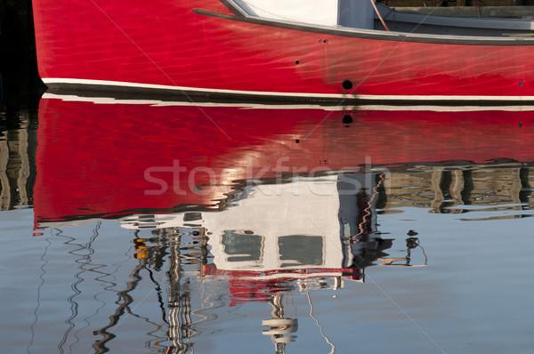 Red Boat Reflection Stock photo © Gordo25