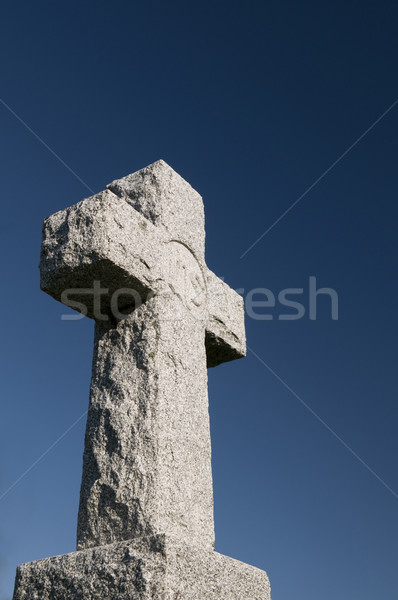 Christelijke kruis afbeelding steen diep Stockfoto © Gordo25