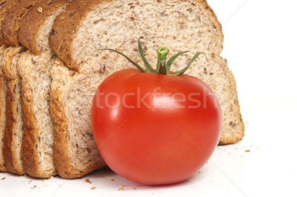 Fresh Tomato and Whole Wheat Bread Stock photo © Gordo25