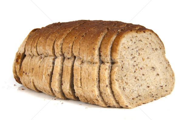 Dourado centeio pão grão isolado branco Foto stock © Gordo25