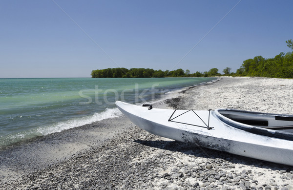 Kayak on Lake Ontario Shoreline Stock photo © Gordo25