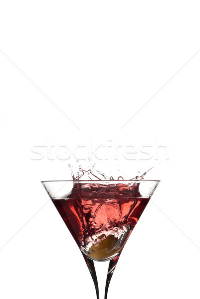 Red Cocktail drops Stock photo © gorgev