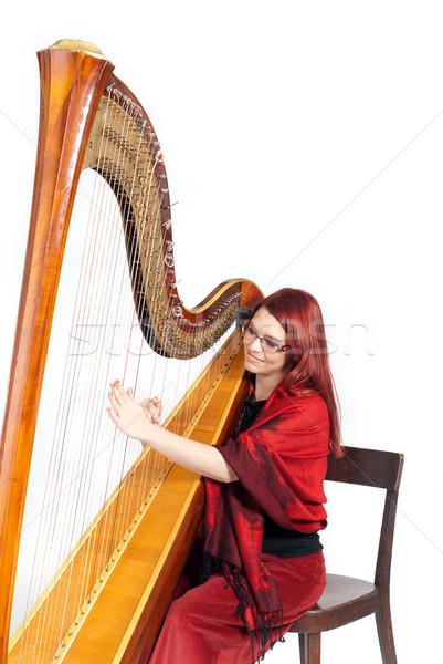 арфа концерта красивой играет Сток-фото © gorgev