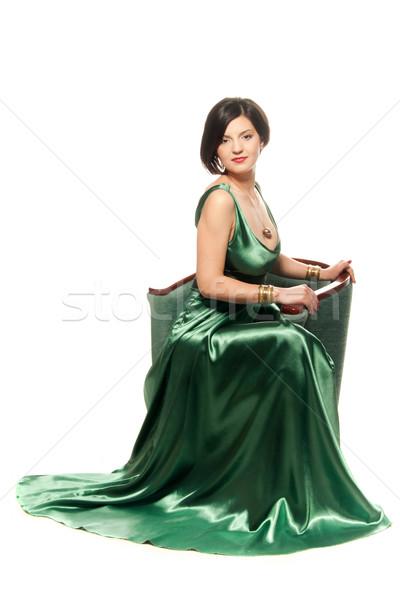 Green on white Stock photo © gorgev