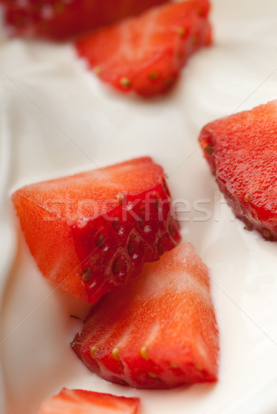 Youghurt with fruit Stock photo © gorgev