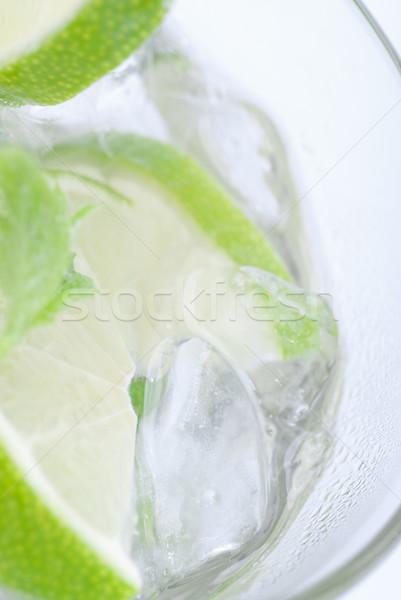 Dentro mojito vidro cal gelo Foto stock © gorgev