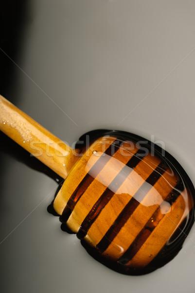 Miel dorado alimentos madera naturaleza Foto stock © gorgev
