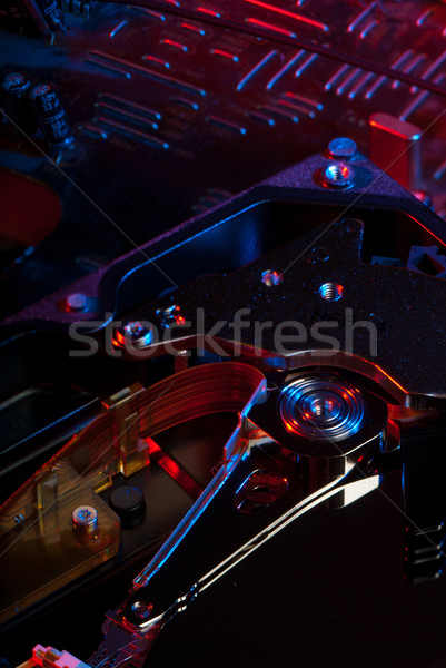 Vezetés közelkép merevlemez fej nyáklap számítógép Stock fotó © gorgev