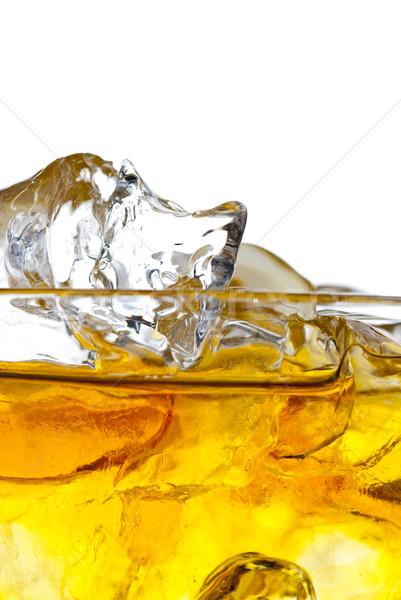 Whisky rocas aislado blanco hielo Foto stock © gorgev