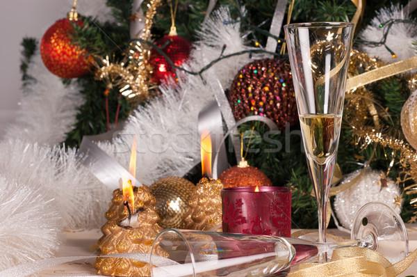 Karácsony ünneplés díszek üveg tél labda Stock fotó © gorgev