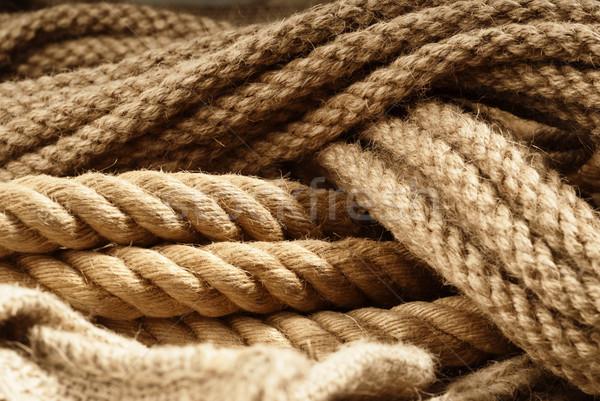 Fiber ropes closeup Stock photo © gorgev