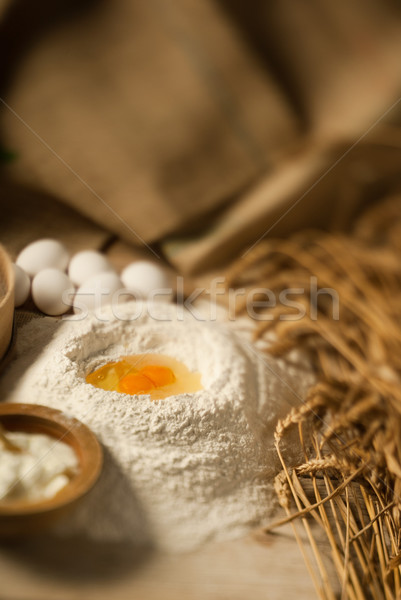 Wheat and eggs Stock photo © gorgev