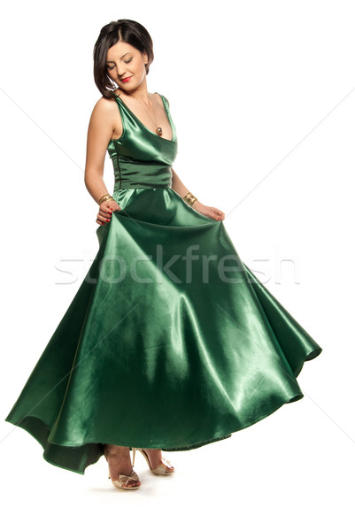 Glamour in green Stock photo © gorgev