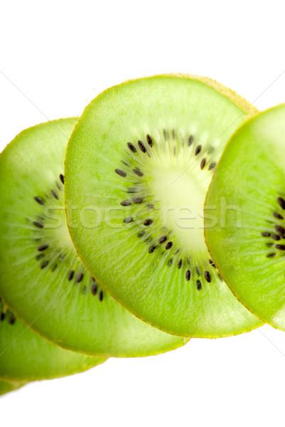 Kiwi fehér szeletek zöld közelkép oldal Stock fotó © gorgev