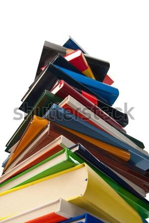 Utilizado libros uno otro aislado Foto stock © gorgev