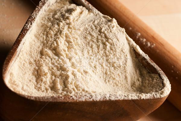 Pote farinha padaria bandeja dourado Foto stock © gorgev