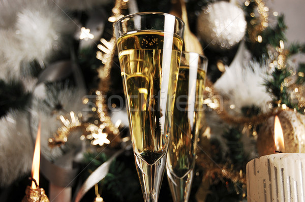 Champagne waiting for Christmas Stock photo © gorgev