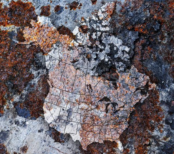 Oxidized metal Stock photo © gorgev