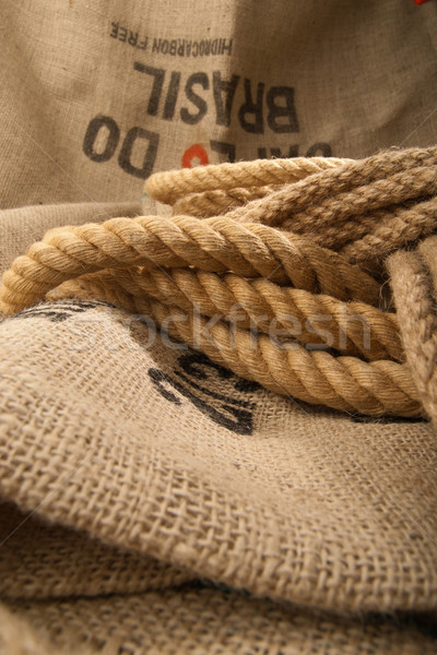 Jute rope Stock photo © gorgev