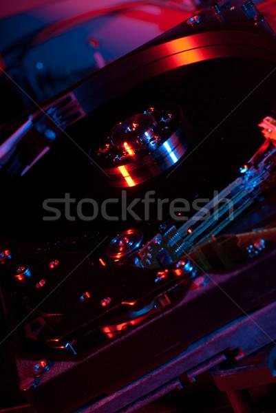 Hardware ordenador luz roja tecnología fondo Foto stock © gorgev