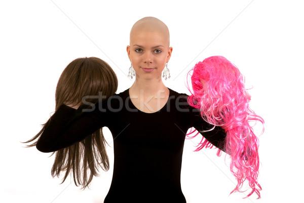 Stock photo: Bald girl