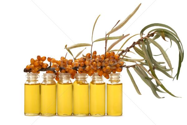Stock photo: Oil of sea-buckthorn berries.