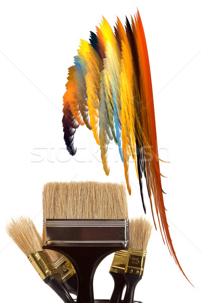 Brushes for painting Stock photo © Goruppa