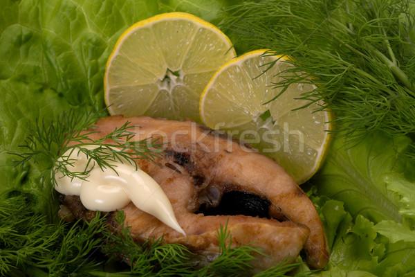 Fish fried Stock photo © Goruppa