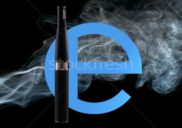 Elektronische sigaret ingesteld roken groot populariteit Stockfoto © Goruppa