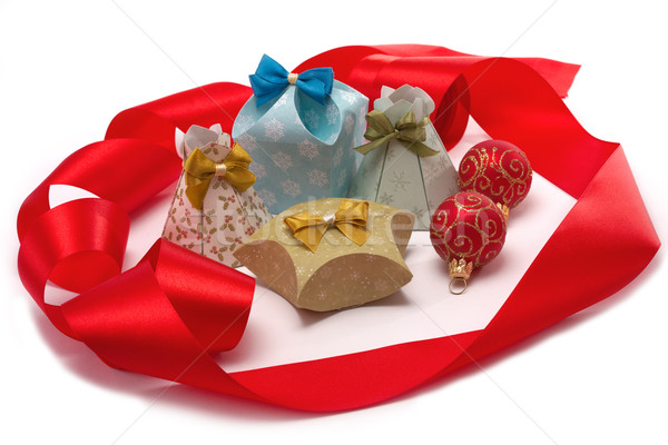 Foto stock: Presentes · natal · caixas · branco · caixa · grupo