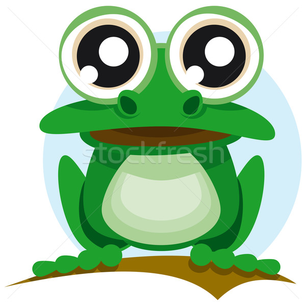 Grenouille grands yeux printemps nature vert animaux Photo stock © Grafistart
