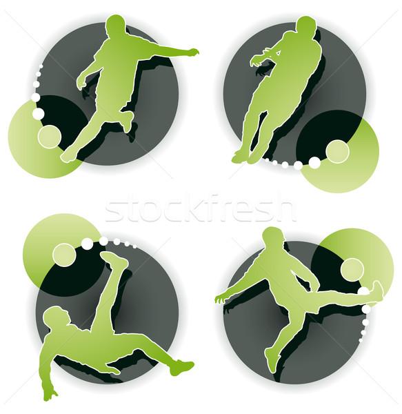 футболист белый спорт зеленый весело Сток-фото © Grafistart