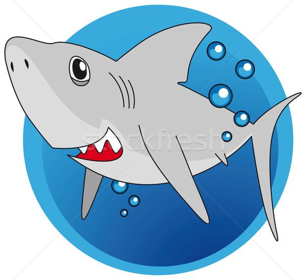 Groß weiß Hai Strand Meer Tier Stock foto © Grafistart