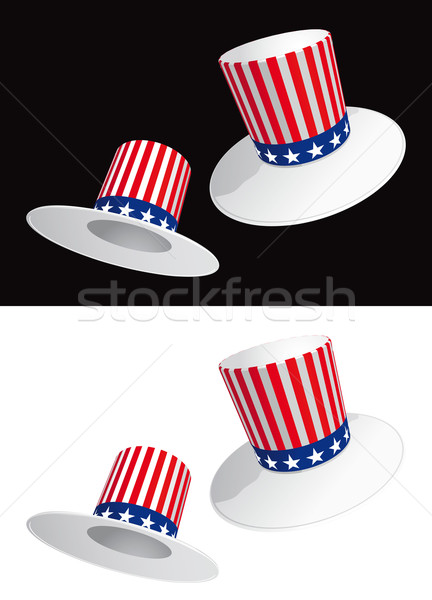 Two USA hats Stock photo © Grafistart