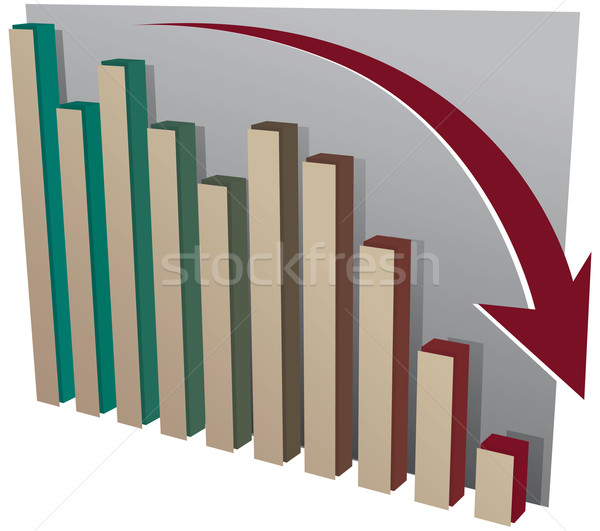 Stock market crash chart Stock photo © Grafistart