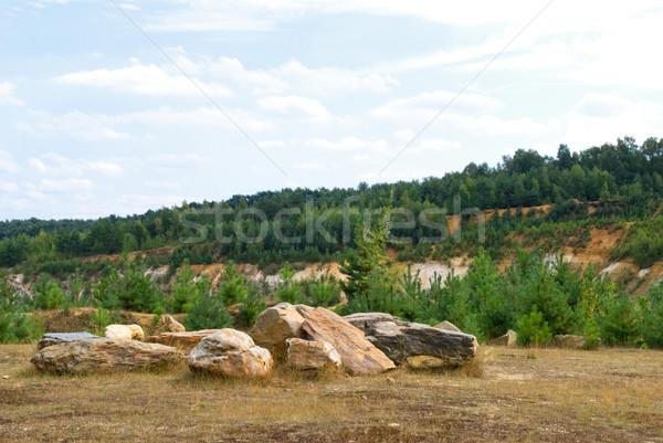 Sommer Landschaft Felsen Himmel Natur Freiheit Stock foto © Grafistart
