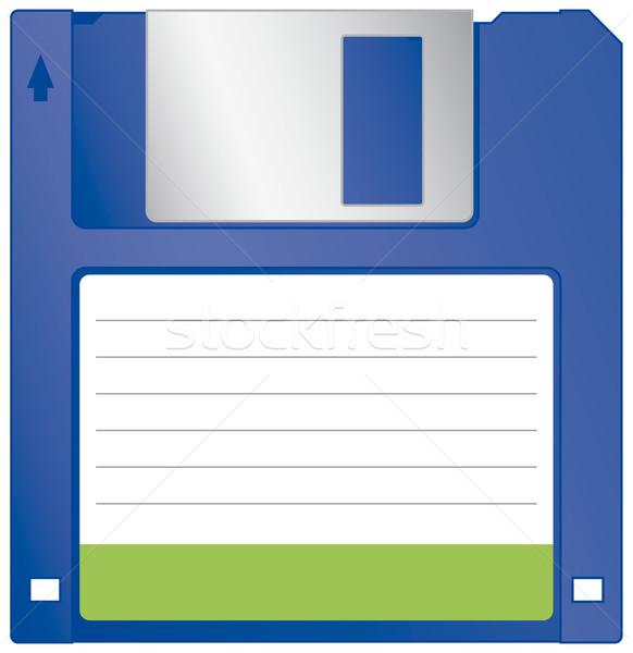 Festplatte isoliert weiß Computer Software Dokumente Stock foto © Grafistart