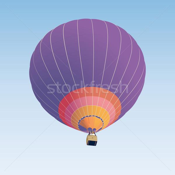 Ballon à air chaud illustration bleu orange blanche chaud Photo stock © Grafistart