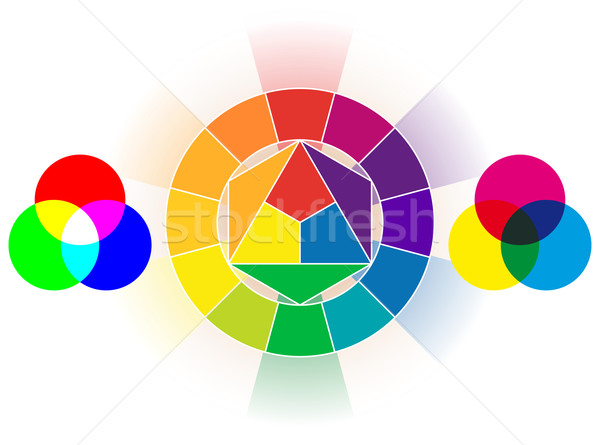 Color wheel set Stock photo © Grafistart