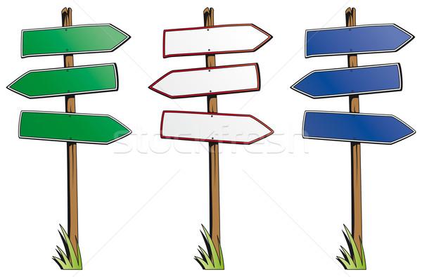 набор направлении признаков изолированный белый знак Сток-фото © Grafistart