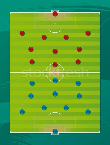 Calcio squadra tattica campo calcio sfondo Foto d'archivio © Grafistart
