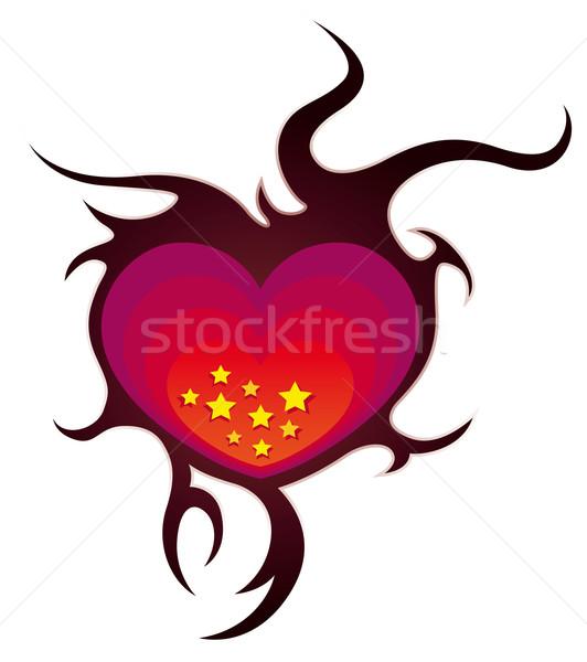 Starry hearth  Stock photo © Grafistart