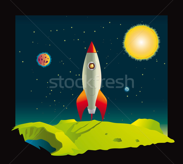 Raum Rakete Planeten tief Welt Mond Stock foto © Grafistart